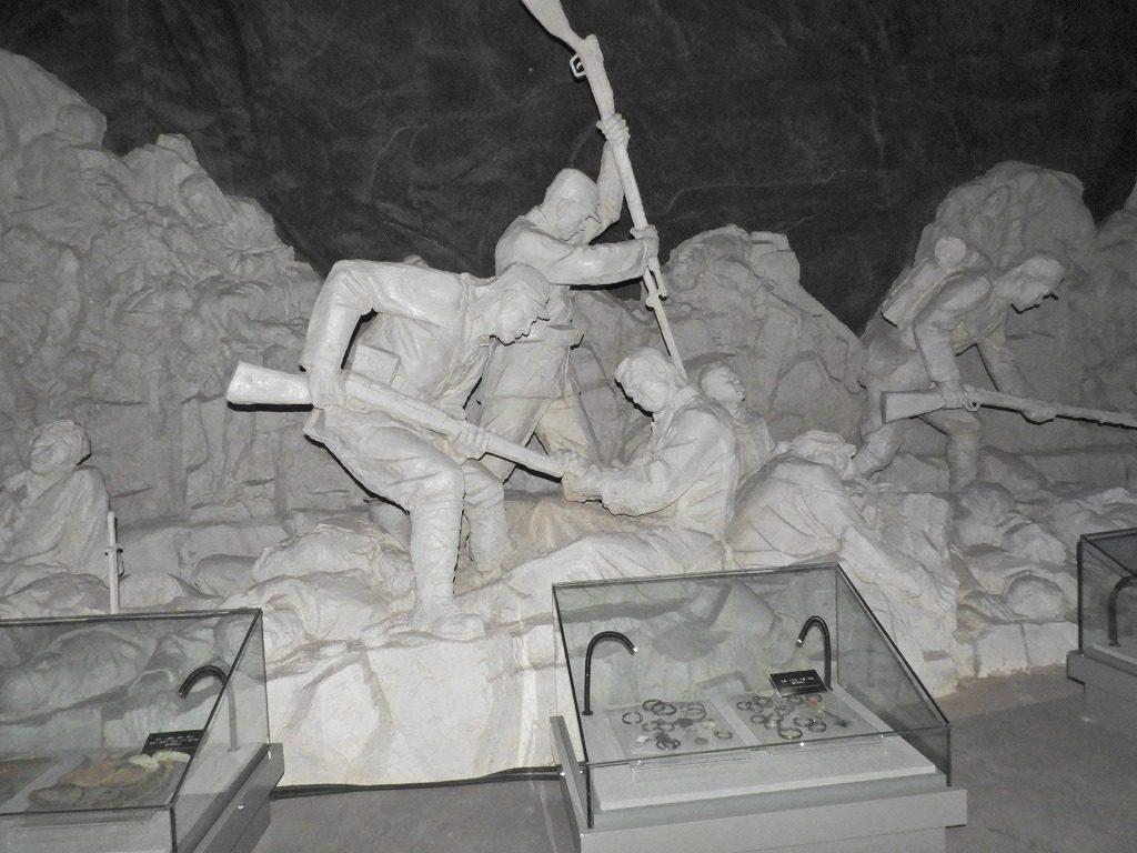 平頂山虐殺遺跡記念館の展示