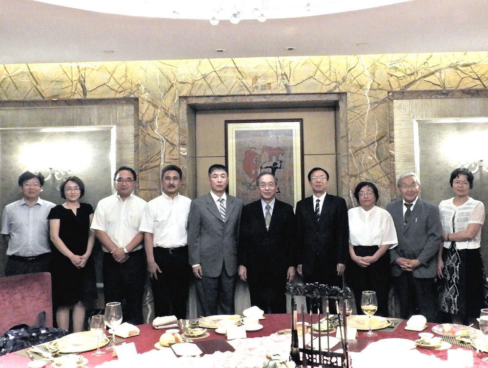 中国職工対外交流センターの歓迎夕食会(北京)
