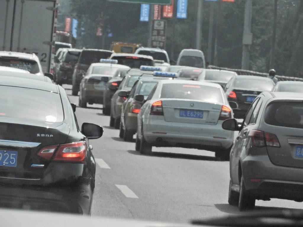 北京市内の車の渋滞