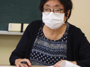 藤村事務局長が経過報告を行う