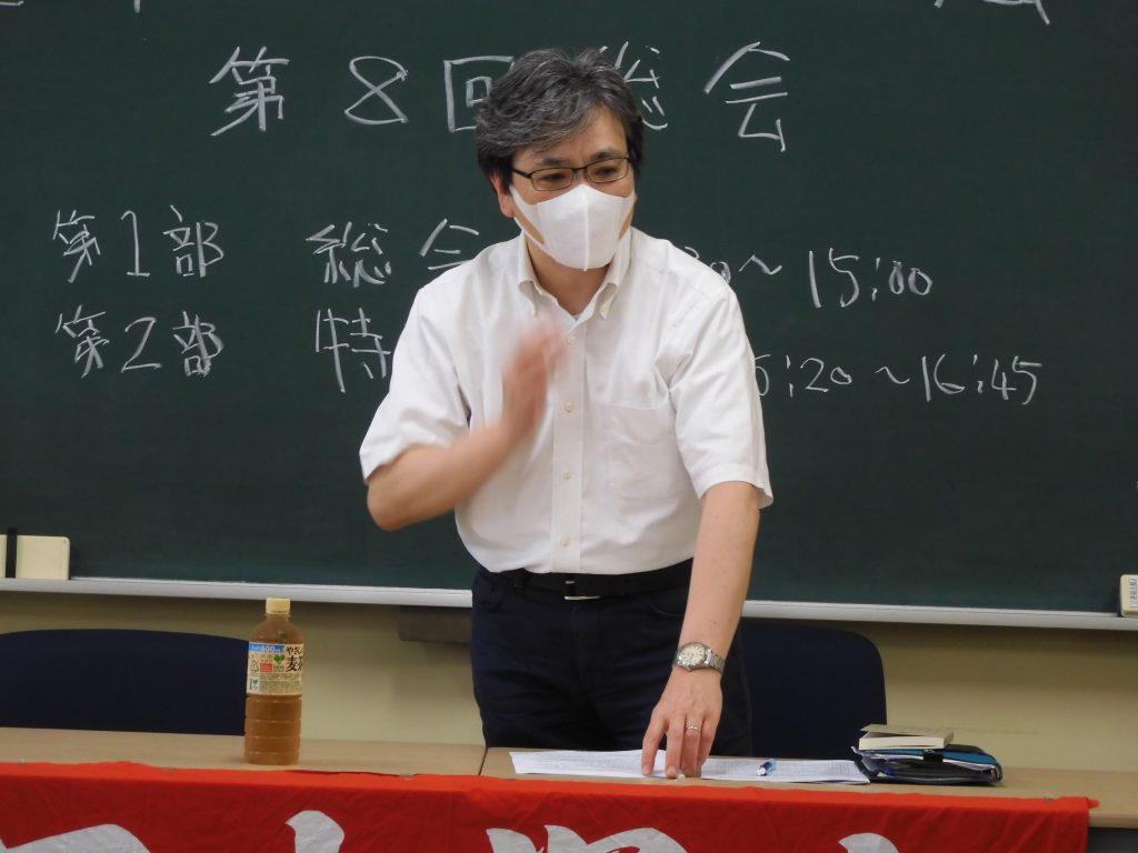 第2部で外村大(東大教授)先生が「歴史問題の和解を考える」の講演を行った