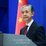 中国外交部(外務省)の汪文斌報道官は1日の定例記者会見