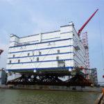 世界最大の洋上変電所(三峡如東洋上変電所)の海上輸送